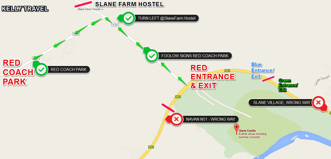 SLANE Kelly Travel Site Map