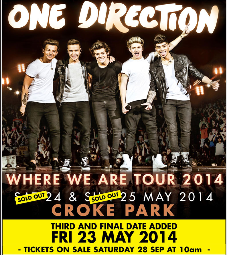 one direction croke park extra date