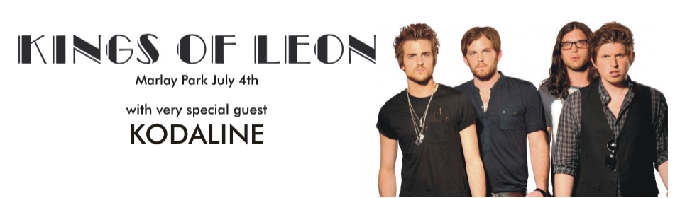 KT BAnner Kings of Leon