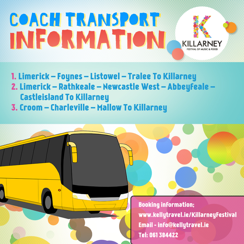 Public Transport Information and Buses to Killarney Festival 2015