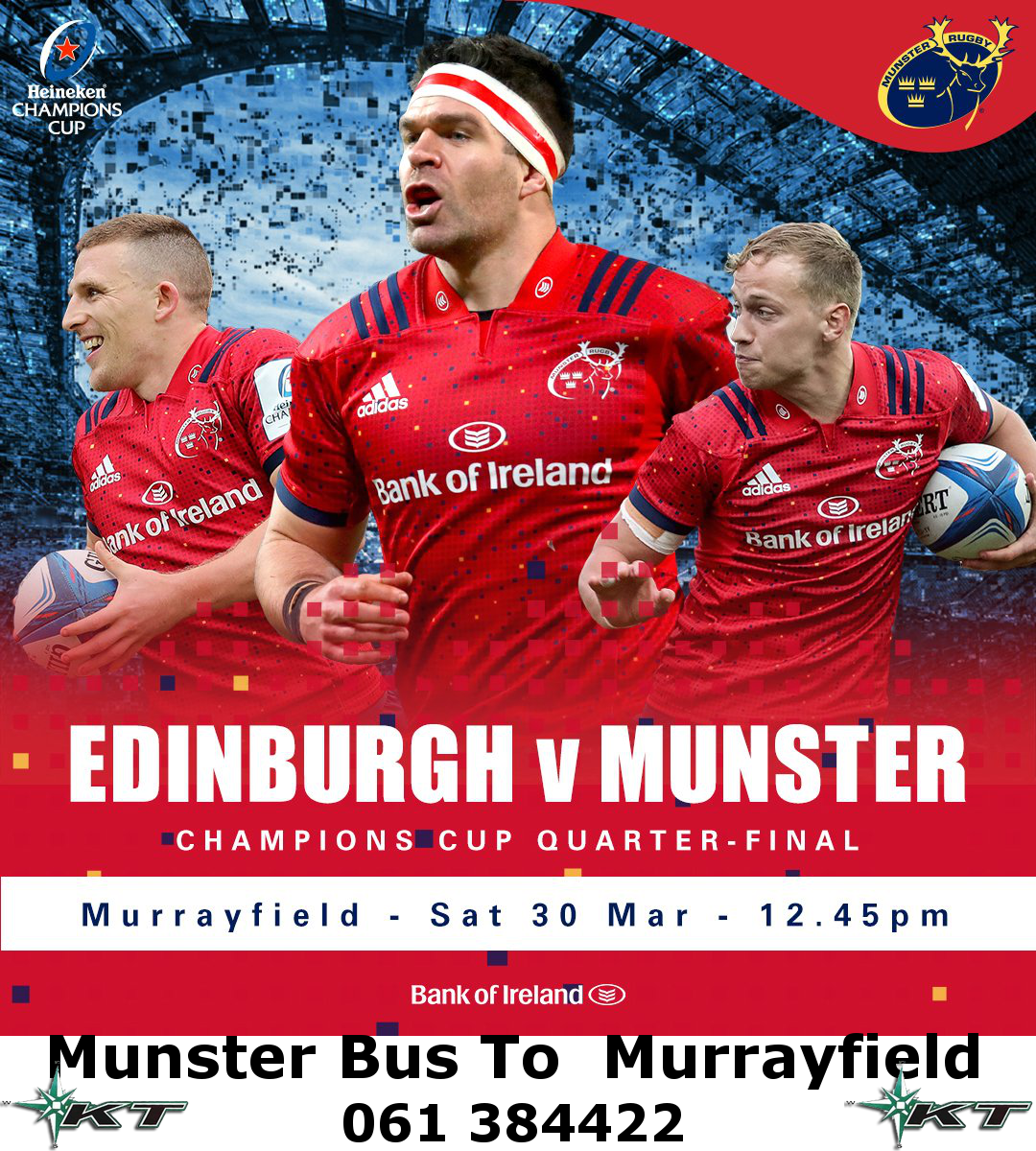 Bus to Munster v Edinburgh