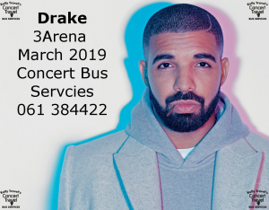 drake concert bus from Limerick Kelly Travel
